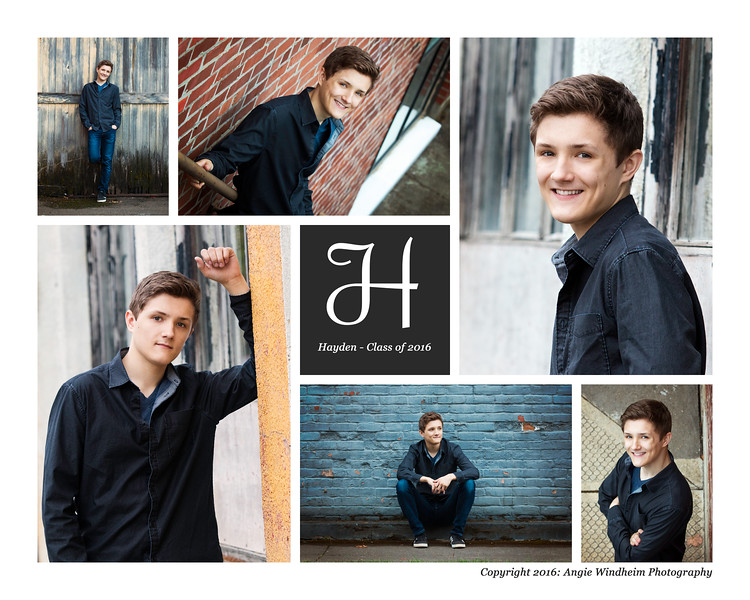Hayden Brundage, SHS Class of 2016, Senior Portraits by Angie Windheim Photography